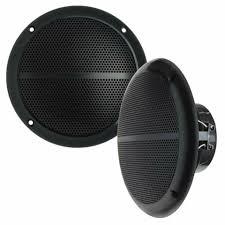 2 15cm lautsprecher für decke wasserdicht badezimmer boot schwarz