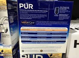 Pur Faucet Mounted Water Filter by Pur Ultimate Horizontal Faucet Mount With 2 Filters Costco