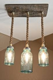 DIY Mason Jar Triple Pendant Light
