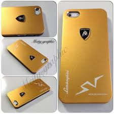 off Accessories Gold Lamborghini 3D Aluminum iPhone 5 5S