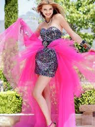 multicolored sequined sheath underskirt and watermelon organza