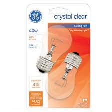 ge 44409 a15 soft clear ceiling fan light bulb e26 base 40 watt