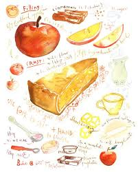 Drawn pie apple pie 15