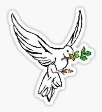 Dove flying Sticker
