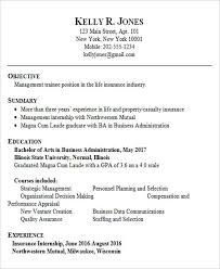 Sample Resume For Fresh Graduate Business Administration