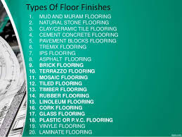 type of floor finishes interior and exterior home design