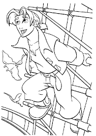 Treasure Planet Jim Hawkins Want To Fly Coloring Pages