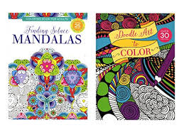 Coloring Books For Adults Doodle Art To Color Amp Finding Solace Mandalas Paper