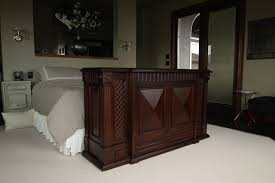 costco diy tv lift cabinet at foot of bed us made tv lift