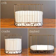 Bratt Decor Joy Crib Used by Jadore Crib Cradle Vintage Gold