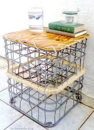 Vintage Metal Milk Crate Upcycle