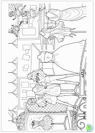 Barbie Fashion Fairytale Colouring Pages