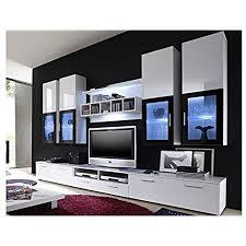 moderne wohnwand vitrine anbauwand wohnzimmer möbel weiß