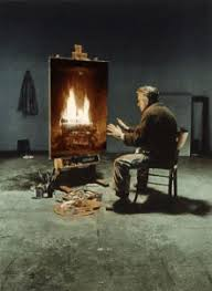 Starving Artist Fireplace GIF