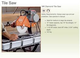 Harbor Freight Electric Tile Cutter by Tile Saw Research