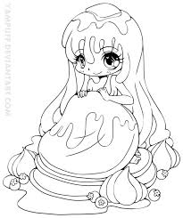 Totoro Coloring Page See More Pancake Girl Chibi Lineart By YamPuffdeviantart On DeviantART