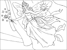 Blue Fairy Bring Apples Coloring Pages For Kids Printable Pinocchio