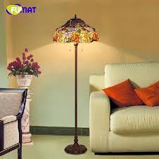 großhandel fumat european stehleuchte schatten glasmalerei dekor ständer lichter für wohnzimmer pastorale künstlerische led stehleuchten