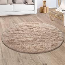 hochflor teppich wohnzimmer fellteppich kunstfell shaggy flauschig einfarbig beige grösse 80x150 cm