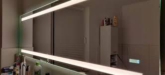 led badezimmerspiegel 1 6m lang mit licht spiegelheizung etc