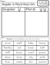 Singular or Plural Noun Sort by Rock Paper Scissors