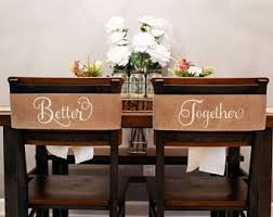Wedding Chair Signs Bride And Groom Rustic Decor Ideas