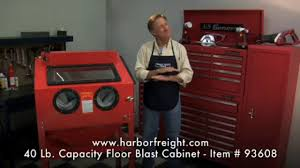 Harbor Freight Blast Cabinet by 68893 Abrasive Blast Cabinet On Vimeo