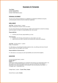 Unique Example Personal Statement For Resume Examples Of Resumes Profile