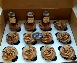 Hennessy Cupcakes With Bottles