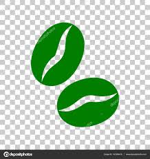 Coffee Beans Sign Dark Green Icon On Transparent Background Stock Vector
