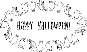 Coloring Page Halloween Wishes Printable Card