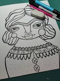 Adult Coloring Book My Frida Page Download Printable Illustration By JennyMannoArt On Etsy