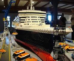 Lego Ship Sinking 3 by Rms Queen Mary 2 Ship Qm2