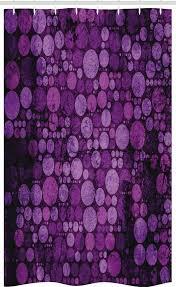 abakuhaus duschvorhang badezimmer deko set aus stoff mit haken breite 120 cm höhe 180 cm lila weinlese schmutz kreise kaufen otto