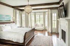 Dazzling Sleigh Bed Frame In Bedroom Traditional With Dark Wood Next To Decorative Beams Alongside