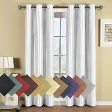 Bed Bath And Beyond Grommet Blackout Curtains by Amazon Com Soho White Grommet Blackout Window Curtain Panel