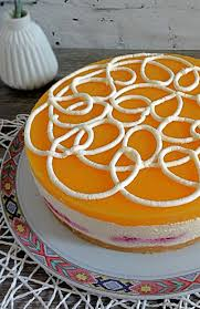 pfirsich himbeer torte
