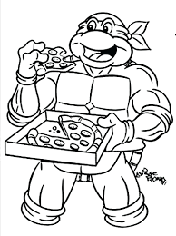 Online Colouring Pages For Kids Disney Ninja Turtle Coloring Page Teenage Mutant Turtles Free Printable Sheets