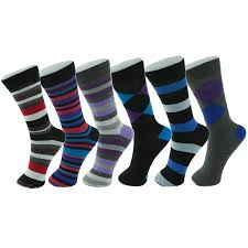 alpine swiss 6 pack men u0027s cotton dress socks mid calf argyle