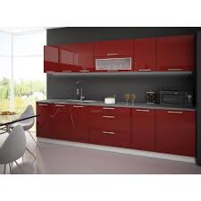 element de cuisine elements de cuisine complete 3m laquee high gloss achat vente