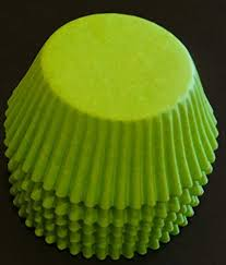 Amazon 100 Lime Green Cupcake Liners Baking Cups STANDARD SIZE