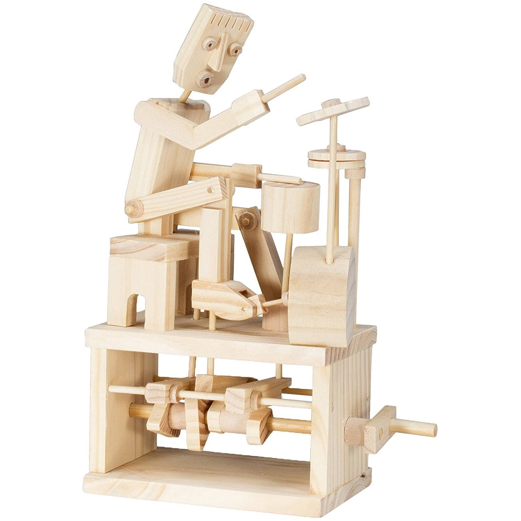 Timberkits - Drummer - Mechanical Wooden Construction Kit