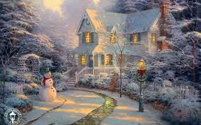 Thomas Kinkade Christmas Tree Train thomas kinkade christmas villages u2013 happy holidays