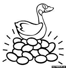 The Goose With Golden Eggs Online Coloring Page