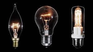 halogen light bulb blinks black background macro view stock
