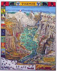 1931 Color Print Of Yosemite Valley
