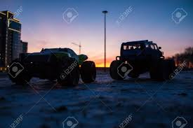 100 Rc Trucks Videos RC Car Monster At Sunset Of The Day Stock Photo Picture And