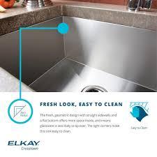 elkay crosstown efu321910 30 70 double bowl undermount stainless