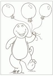 Beautiful Barney Coloring Pages 32 For Your Free Book With