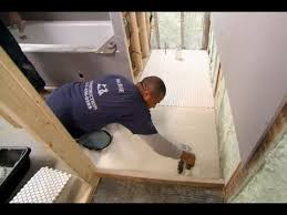how to tile a bathroom floor this house